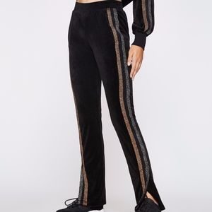 Pam & Gela Track Pant w/side slits & stripes